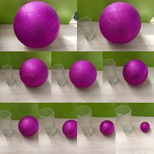 Purple Polystyrene Styrofoam Foam Ball Party Wedding festival stage house decoration DIY handmade materials 6-12cm(diameter)