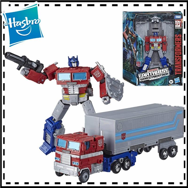 18 см Трансформеры игрушки поколения война для Cybertron Earthrise лидер Wfc-E11 Optimus Prime Коллекционная экшн-фигурка