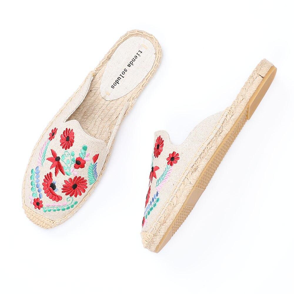 2019 Rushed New Arrival Hemp Summer Flip Flops Pantufas De Pelucia De Bichos Tienda Soludos Espadrilles Slippers For Flat Shoes  1