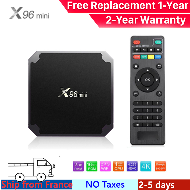 Best android tv box x96 mini iptv box android tv box Amlogic S905W 1G 8G 2G 16G x96mini smart ip tv set top box