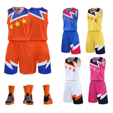 Conjuntos de Camisas de Basquete dos Homens Uniformes de Jogos de Basquete da Juventude Nova Chegada Trainning Terno Barato College Throwback Camisas