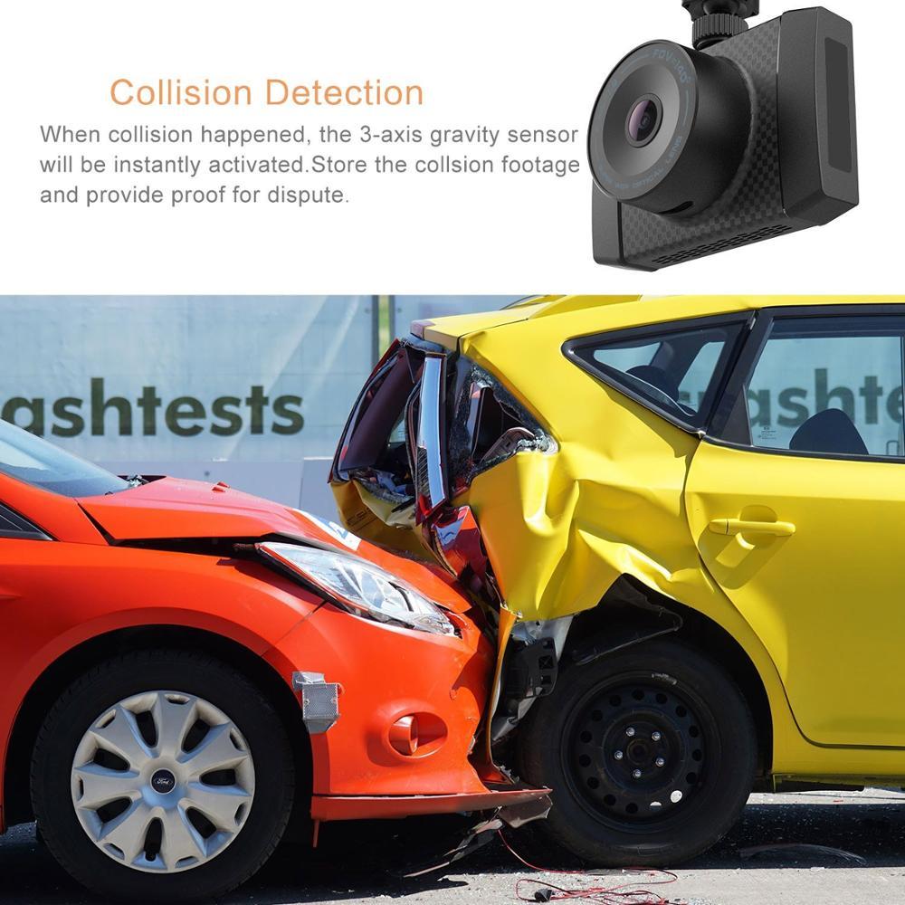 Yi ultra dash câmera com 16g cartão 2.7 k resolução a17 a7 chip de núcleo duplo controle de voz sensor de luz de 2.7 polegadas widescreen - 3