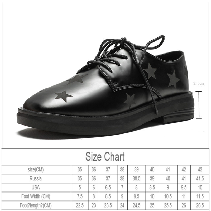 AIYUQI Women Shoes 2020 New Spring  Wild Round Head Lace-up Single Shoes Women Retro Stars Thick Heel British Women's Shoes