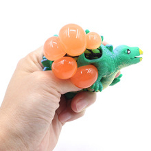 Funny Anti-Stress Squishy Ball Grape Squeeze Discolor Mood Autism Kids Adult Play Vent Toys For Gift Cute Animal release stress