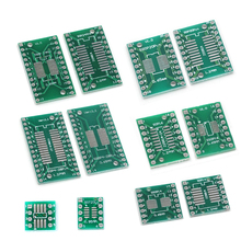 10pcs PCB Board Kit SMD Turn To DIP Adapter Converter Plate SOP MSOP SSOP TSSOP SOT23 8 10 14 16 20 28 SMT To DIP lvth16244a ssop
