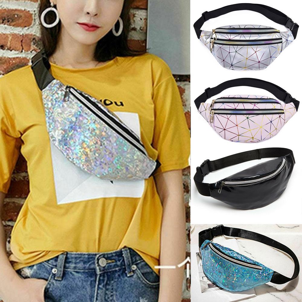 Women Waist Pack Reversible Mermaid Sequins Glitter Waist Bag Fanny Pack Hip Bum Bag Purse Travel Satchel Bags /BL1