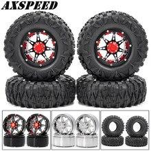2.2 polegada 1:10 rodas rc jantes e borracha roda pneus pele kit para 1/10 rc rock crawler wraith 90018 scx10 d90 peças