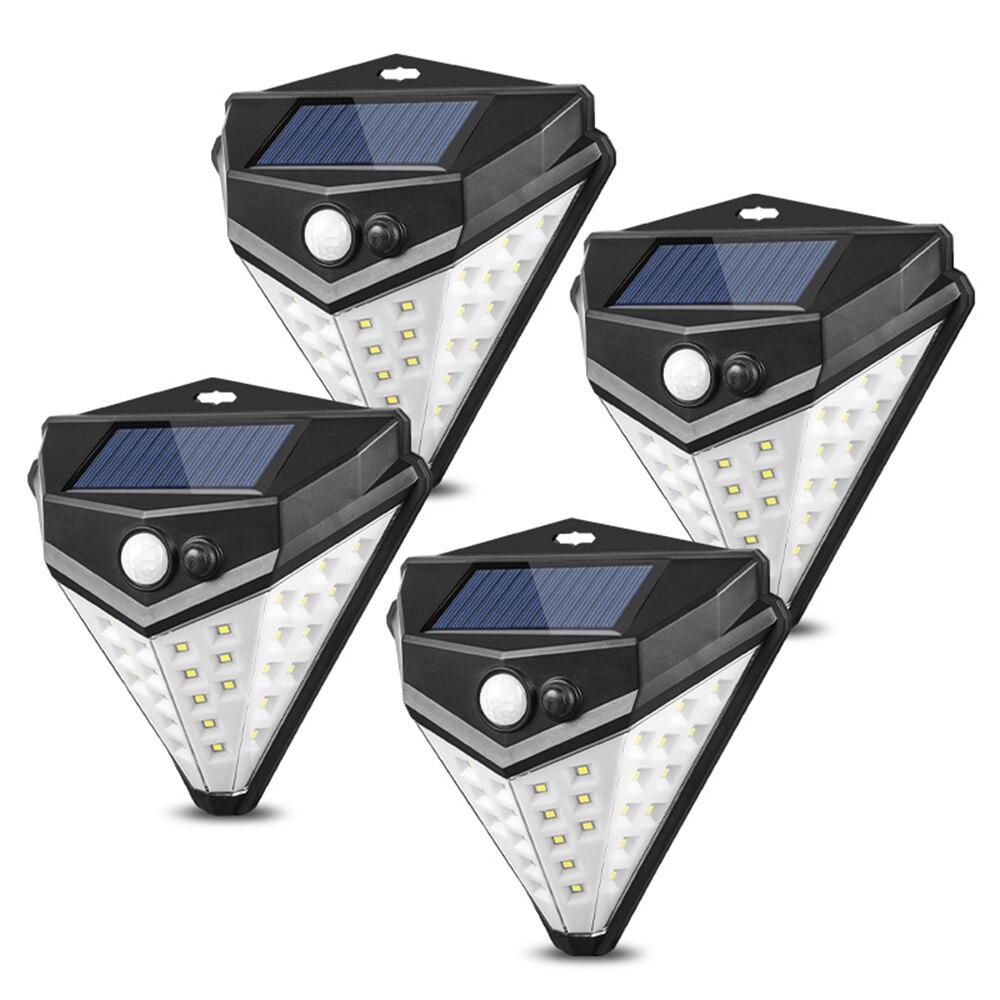 38LED Solar Powered Motion Sensor Light Outdoor Garden Security Wall Lights Solar Lamps     - title=
