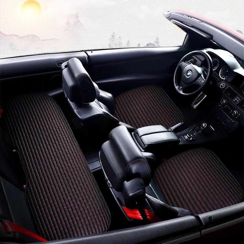 Couverture complète couverture de siège de voiture en fibers de lin housses de sièges auto pour mercedes benz classe g w460 w461 w463 gl x164 glk 350x204 glc 300