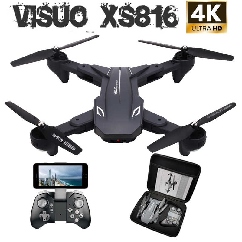 Visuo XS816 WiFi FPV RC Drone 4 K กล้อง Optical Flow 720 P กล้อง RC Quadcopter แบบพับได้ Selfie Drone VS XS809S XS809HW SG106