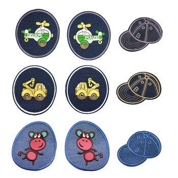 Naprawa szycia naszywki na kolana żelazko na łatka na odzież dżinsy paski naklejki czapki samochodowe naszywka dziecięca