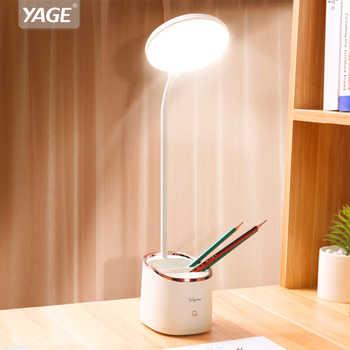 1800mAh Rechargeable Lampe De Table De Stockage Stylo Hoder Lampes Table Led Touch Lampe De Table Étudiant Led Lampe De Bureau