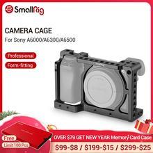 SmallRig Камера клетка для Sony A6000/A6300/A6500 ILCE 6000/ILCE 6300/A6500/Nex 7 алюминиевый сплав клетка для штатива с креплением в виде чашечных держателей монитор 1661