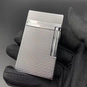 Image 2 - 100% Новая Винтажная газовая ветрозащитная Зажигалка dupont с ярким звуком для сигарет