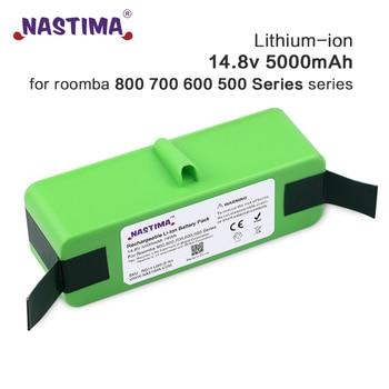 NASTIMA-batería de iones de litio para iRobot Roomba, 14,8 V, 5000mAh, serie 800, 700, 600, 895, 891, 890, 880, 870, 860, 675, 760