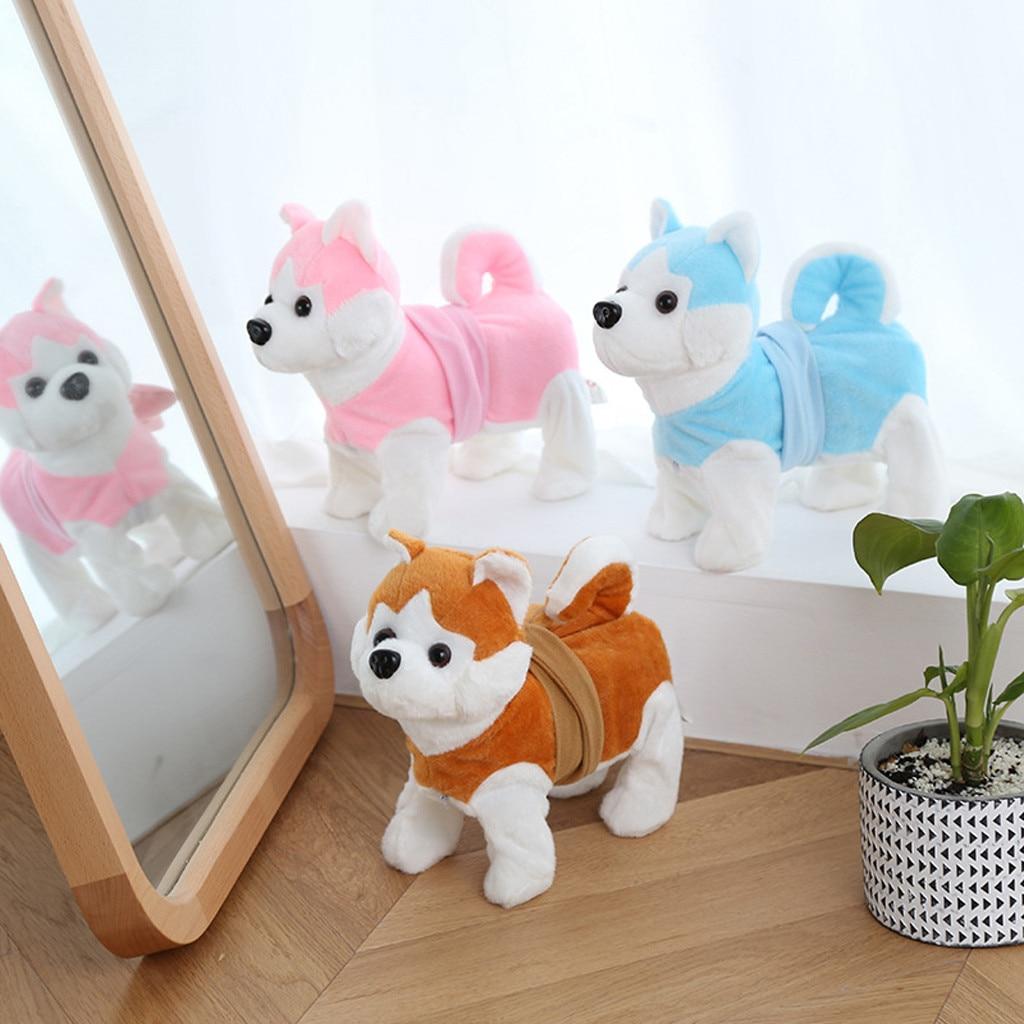 Electronic Walking Dog Plush Toys Battery Powered Stuffed Animal Kids Xmas Toy Christmas Gift For Baby Kids