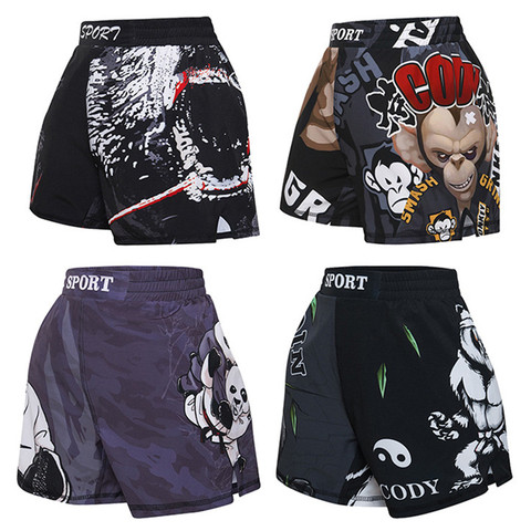 Calções de Boxe Luta de Luta de Combate Meninos Shorts Crianças Muay Thai Bjj Kickboxing Calções Impressão 3d Luta Sprot Calças Mma
