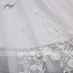 Image 5 - Fmogl Họa Tiết Hoa Sang Trọng Phối Ren Váy Cưới Công Chúa 2020 Appliques Đính Hạt Vintage Cô Dâu Váy Đầm Vestido De Noiva Plus Kích Thước