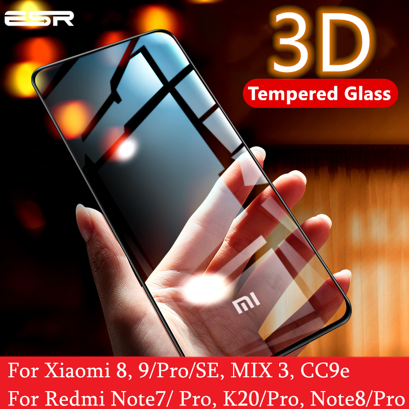ESR Screen Protector For Xiaomi Mi 8 9 Pro SE CC9e 3D Full Cover Protect Anti Blue-ray Tempered Glass For Redmi Note 7 8 K20 Pro