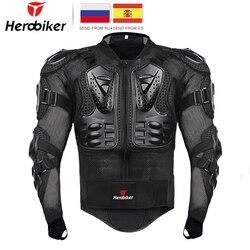 HEROBIKER دراجة نارية سترة الرجال كامل الجسم دراجة نارية درع موتوكروس سباق موتو سترة ركوب دراجة نارية حماية حجم S-5XL #