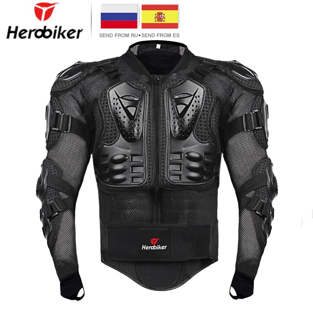 HEROBIKER Motorcycle Jacket Men Full Body Motorcycle Armor Motocross Racing Moto Jacket Riding Motorbike Protection Size S 5XL #
