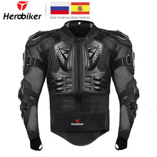 HEROBIKER Motorcycle Jacket Men Full Body Motorcycle Armor Motocross Racing Moto Jacket Riding Motorbike Protection Size S-5XL #(China)
