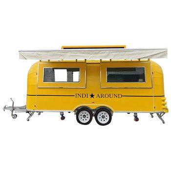 custom blue food truck mobile food trailer Yellow Food Truck Mobile Food Trailer Catering Van