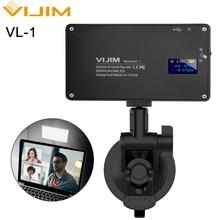 VIJIM ściemnialna lampa LED wideo na smartfonie Vlog wypełnienie światłem efekt RGB kolor żel światło dla Sony A6400 A6300 Canon Nikon