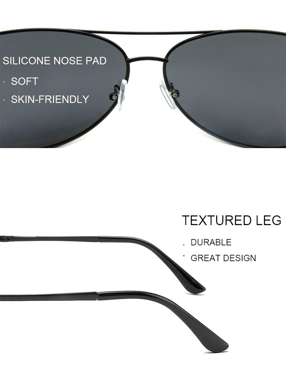 IENJOY Men Polarized Sungasses Blue Light Blocking Glasses Men Glasses Polarized Brand Design Pilot Male Sun Glasses Driving