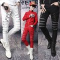 Pants Men's Non-mainstream Pants Feet Slim Zipper Nightclub Performance Red Trousers Punk Rock Casual Men's Pants Streetwear