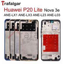 Rama przednia do Huawei P20 Lite obudowa środkowa obudowa środkowa Nova 3e obudowa czołowa ANE-LX1 ANE-LX2 ANE-LX3