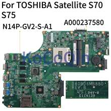 KoCoQin Laptop motherboard For TOSHIBA Satellite C70 C75 S70 S75-A GT740M Mainboard A000237580 DA0BD6MB8B0(China)