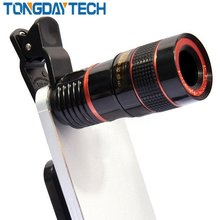 Tongdaytech Universal 8X Optical Zoom Portable Mobile Phone Telescope Camera Lens And Clip For SmartPhone(China)