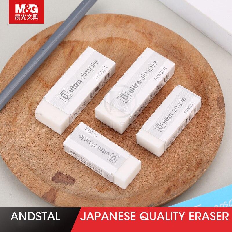 Andstal 10pcs/lot Japanese Quality White Eraser M&G Kawaii Rubber Erasers Mini Pencil Eraser Gum Set For School Supplies Rubbers