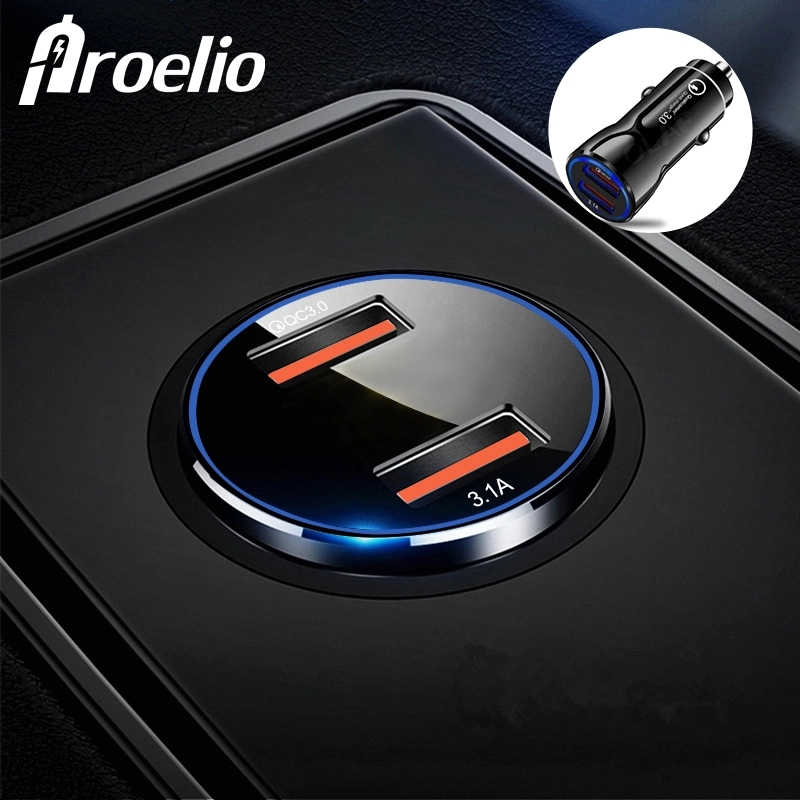 Proelio Qucik Charge 3.0 Fast USB Car Charger For iPhone 7 8 Plus X Phone Charger For Xiaomi Redmi Note 7 For Samsung S8 S9 S10