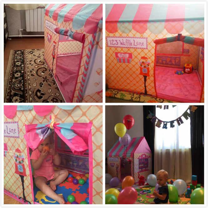 Bé Chơi Lâu Đài Lều Bé Trai Bé Gái Có Thể Gập Lại Bể Bóng Hố Nhà Chơi Ngoài Trời Trong Nhà Đồ Chơi Lều Giáng Sinh Quà Tặng Cho Trẻ Em trẻ Em