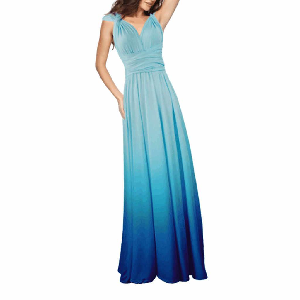 Elagant, вечерние, макси, длинное платье, для женщин, многоходовые, с запахом, платья, градиент, трансформер, бохо, Бандажное платье, для подружек невесты, бесконечное платье 0906