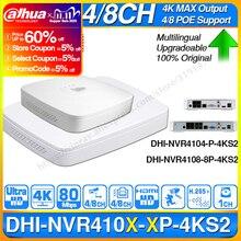 Dahua original 4 k poe nvr NVR4104 P 4KS2 NVR4108 8P 4KS2 (4/8ch poe h.265 비디오 레코더 지원) onvif 2.4 sdk cgi