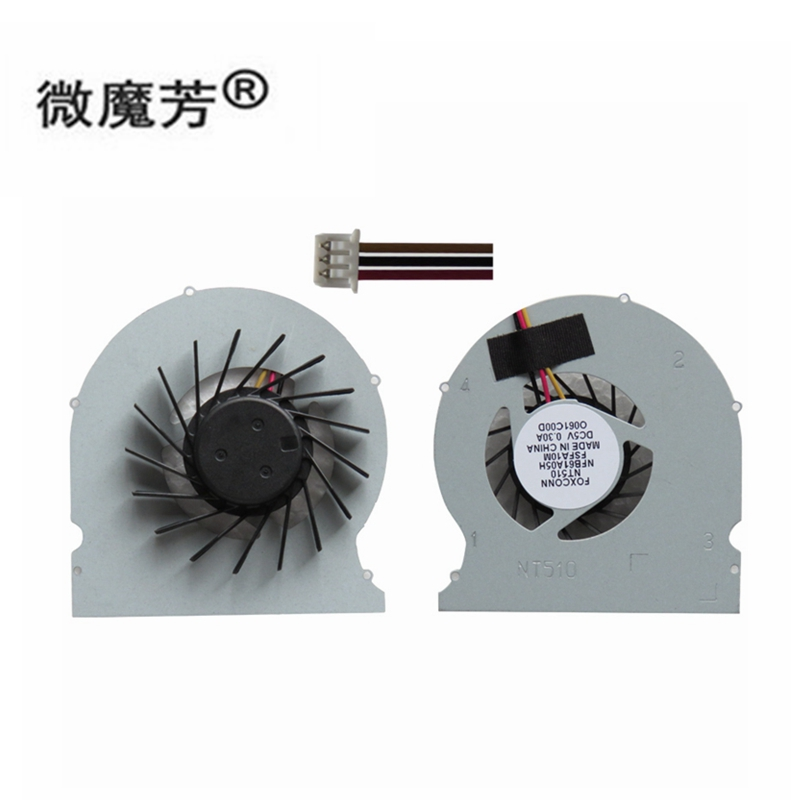 New For FOXCONN NT510 NT410 NDT-PCNT510-1 NT-A3500 NT-510 NT-525 NT-425 NT-A3700 NT-i1200 NT425 NT330-i Cpu Cooling Fan