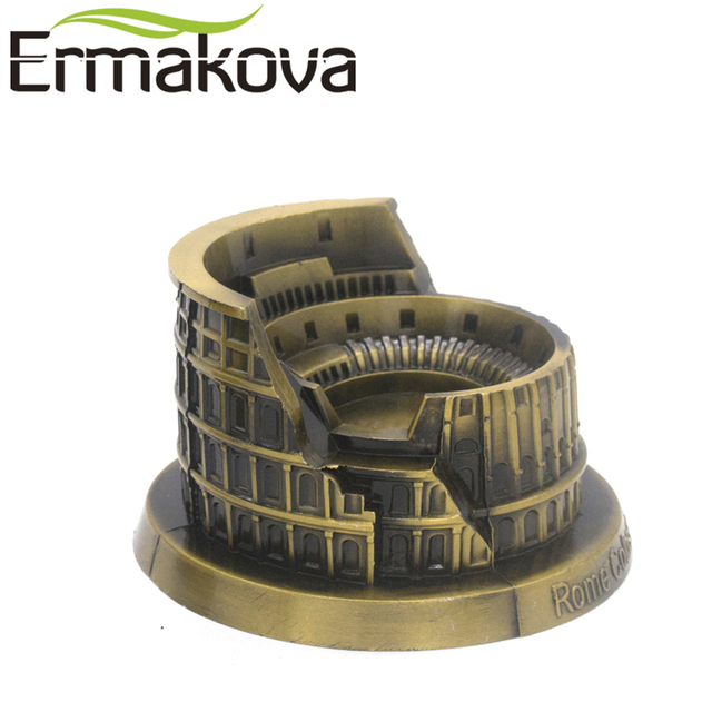 ERMAKOVA Metal Architecture Figurine World Famous Landmark Building Souvenir Statue Home Office Desktop Decor Christmas Gift 4