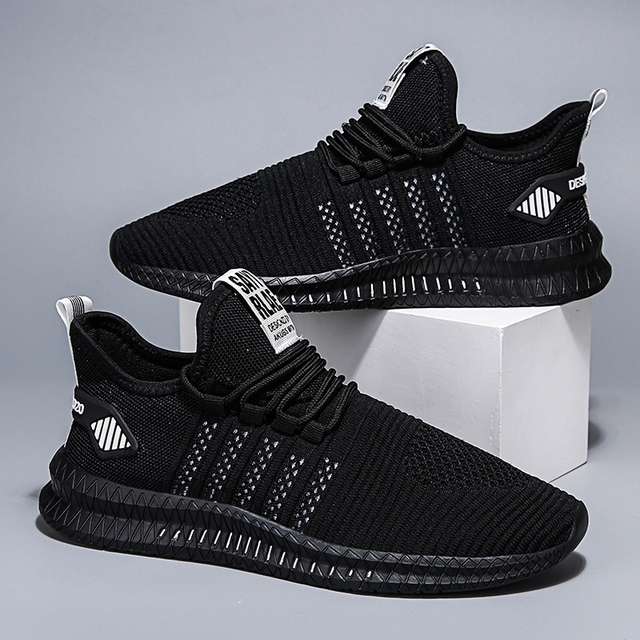 Fashion sneakers lightweight men casual shoes breathable male footwear lace up walking shoe