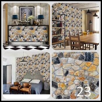 45x100cm 3D PVC Wood Grain Design Brick Stone Wallpaper Rustic Effect Self-adhesive Sticker Room Home Decoration Wallpapers