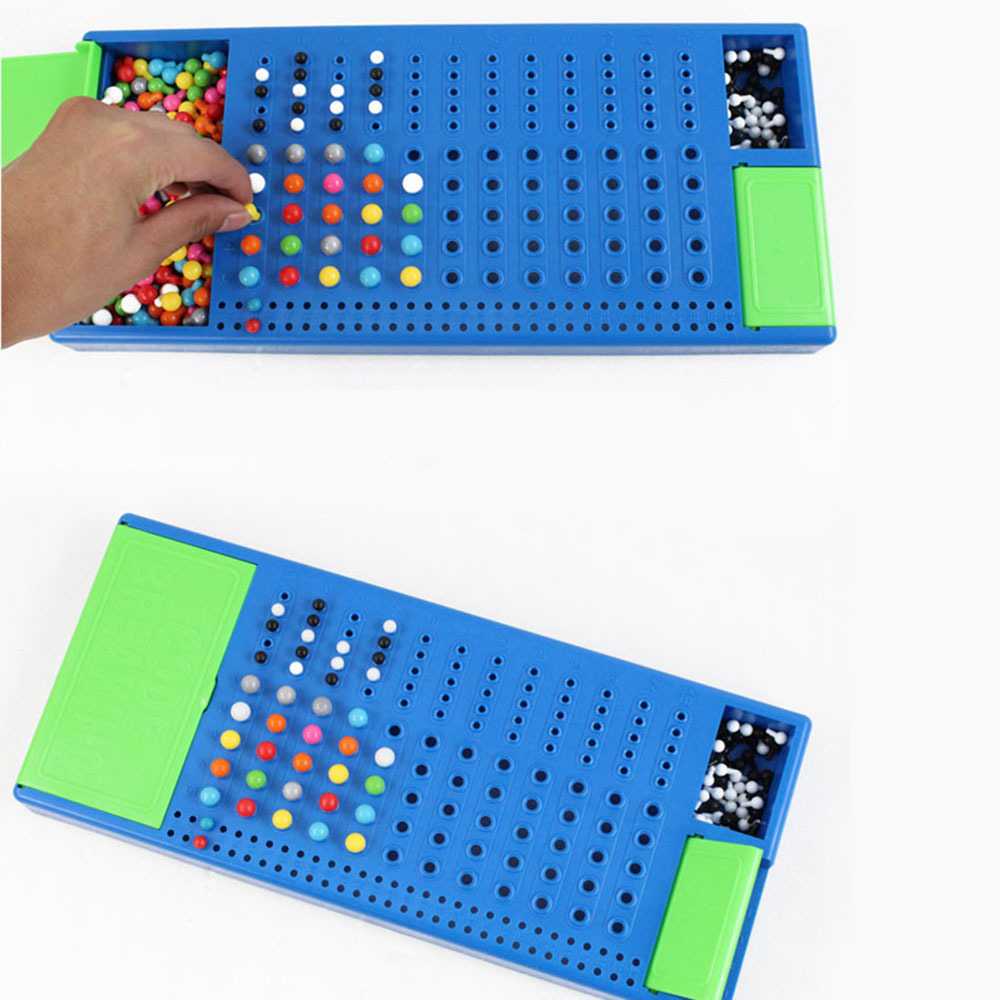 Counting Beads Maths Toy Family Funny Puzzle Game Code Breaking Toy Mastermind Intelligence Game Parent-Child Interactive Toy