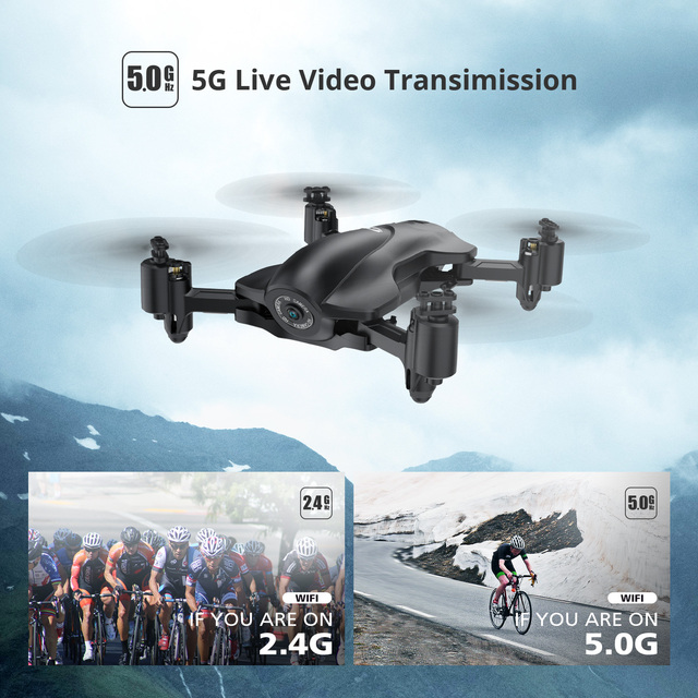 Holy Stone HS165 GPS Drone 5G WiFi 1080P HD FOV 90° Camera Drone Foldable Live Video GPS RC Helicopter Quadcopter Quadrocopter