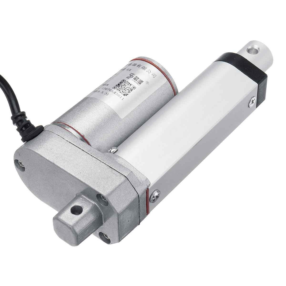 جديد 2 4 8 12 16 20 بوصة 900N 12 فولت 16 مللي متر/ثانية صغيرة تيار مستمر الكهربائية دفع قضيب أبيض مادة سبائك الألومنيوم محرك ميكانيكي طولي