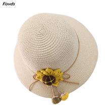 Детский комплект из 2 предметов соломенная шляпа и сумочка на