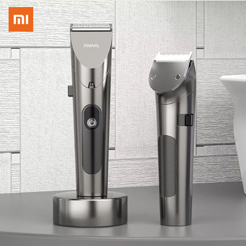 2020 New Xiaomi RIWA Hair Clipper Personal Electric Trimmer Rechargeable Strong Power Steel Cutter Head With LED Screen Washable(China)