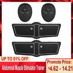 Тренажер для мышц брюшного пресса, стимуляция EMS, вибрационная пластина, массажер для похудения, стимулятор мышц ног и рук, тонизирующее уст...