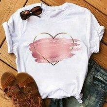Graphic Tshirts Short-Sleeve O-Collar Flower-Print Women Casual Summer Mayaur Heart
