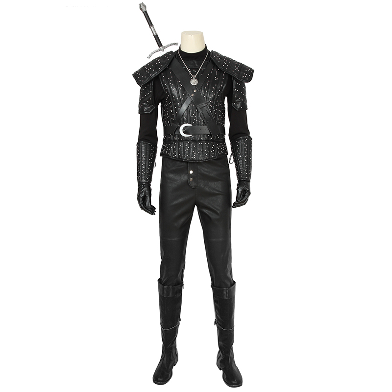 2019 TV  Geralt Of Rivia Geralt Costume Cosplay Leather Uniform Shoes Adult Men Halloween Carnival Outfit Custom Made